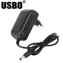 Hot black optional 1A 3V/5V/6V/7V/9V/12V Europe charger 5.5*2.5mm & 5.5*2.1mm 100-240V EU AC to DC power adapter for Monitoring the positive and negative polarity can be used e10 1w 3v 3 7v 4 5v 6v 7v 9v 12v 15v led flashlight torch bulbs with 1watt chips