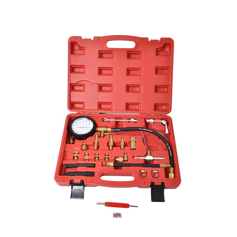 WINOMO Fuel Injection Pressure Gauge Set Professional Fuel Meter Fuel Indicator Fuel Inspection Tools Kit