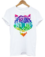 GEOMETRIC TIGER HEAD T SHIRT HIPSTER SWAG COLOR ANIMAL HIPPIE MENS WOMENS NEW Summer Men'S fashion Tee 2019 fashion t shirt
