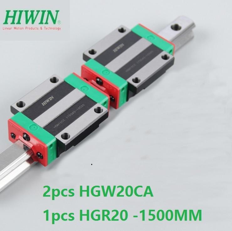 1pcs 100% original Hiwin linear guide HGR20 -L 1500mm + 2pcs HGW20CA HGW20CC flange carriage for cnc 1pcs 100% original Hiwin linear guide HGR20 -L 1500mm + 2pcs HGW20CA HGW20CC flange carriage for cnc