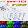 RF Controller 4x131mm B RGB LED Angel Eyes Headlight Multi Color With Halo Ring Remote Control