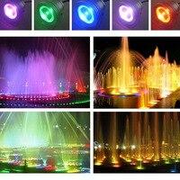 Resistente Al Agua de Control remoto 10 w 12 v RGB LED Luz Subacuática de la Lámpara de Iluminación de Paisaje Fuente Del Estanque-M25