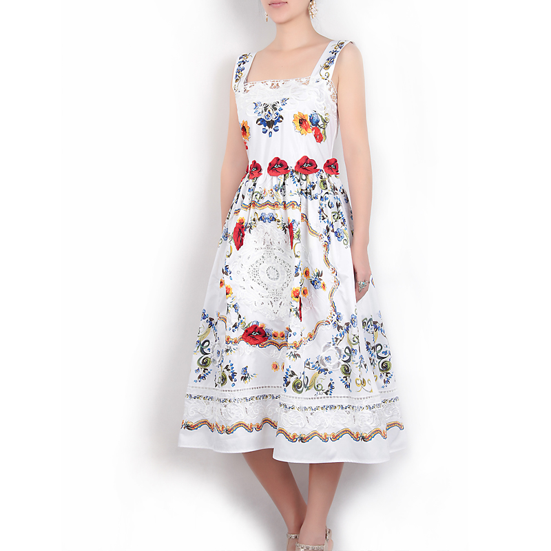 LZJN Cotton Robe Chic 2019 Spring Summer Maxi Dress Elegant Floral Embroidery Chinese Style Long Sleeve