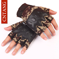 CNTANG Men Sports Antiskid Workout Gym PU Military Camouflage Half Fingerless Gloves Blackhawks Tactical Fitness Training Gloves