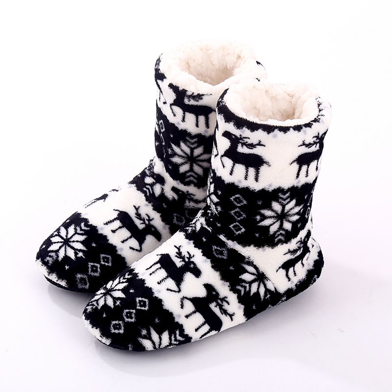 2016 Winter Women Warm Soft Home Slippers Indoor Shoes Chirsitmas Deer Shoes Gril Floor Shoes Plush House Shoes