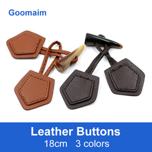 50pcs fashion natural color leather buttons for jeans sewing overcoat  knot Chinese frog button
