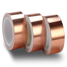 20 Meters Single Side Conductive Copper Foil Tape Strip Adhesive EMI Shielding Heat Resist Tape 5mm 6mm 8mm 10mm 12mm 15mm 0 1mm thickness 60mm single electrostatic shielding emi shielding aluminum foil adhesive tape fit for phone pda