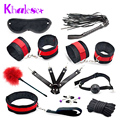 New 10 Pcs/Set Sex Bondage Fetish Kit Restraints Women Slave Sex Toys for Couple Handcuffs Fun Adult Games Sex Tools for Sale