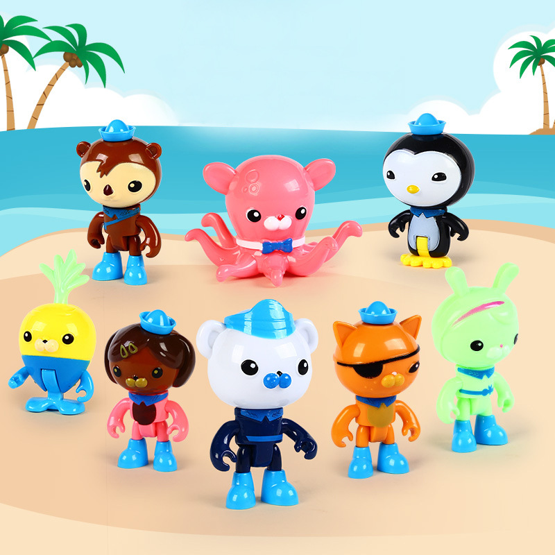 8pcs lot octonauts figure toys octonauts peso captain barnacles