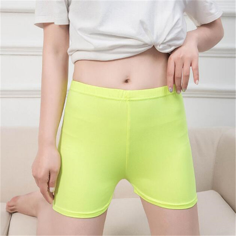 YSDNCHIFemale Gym Casual Summer Women Shorts Fitness Leisure Elastic Waist Black White Shorts Yo-Ga Short Feminino