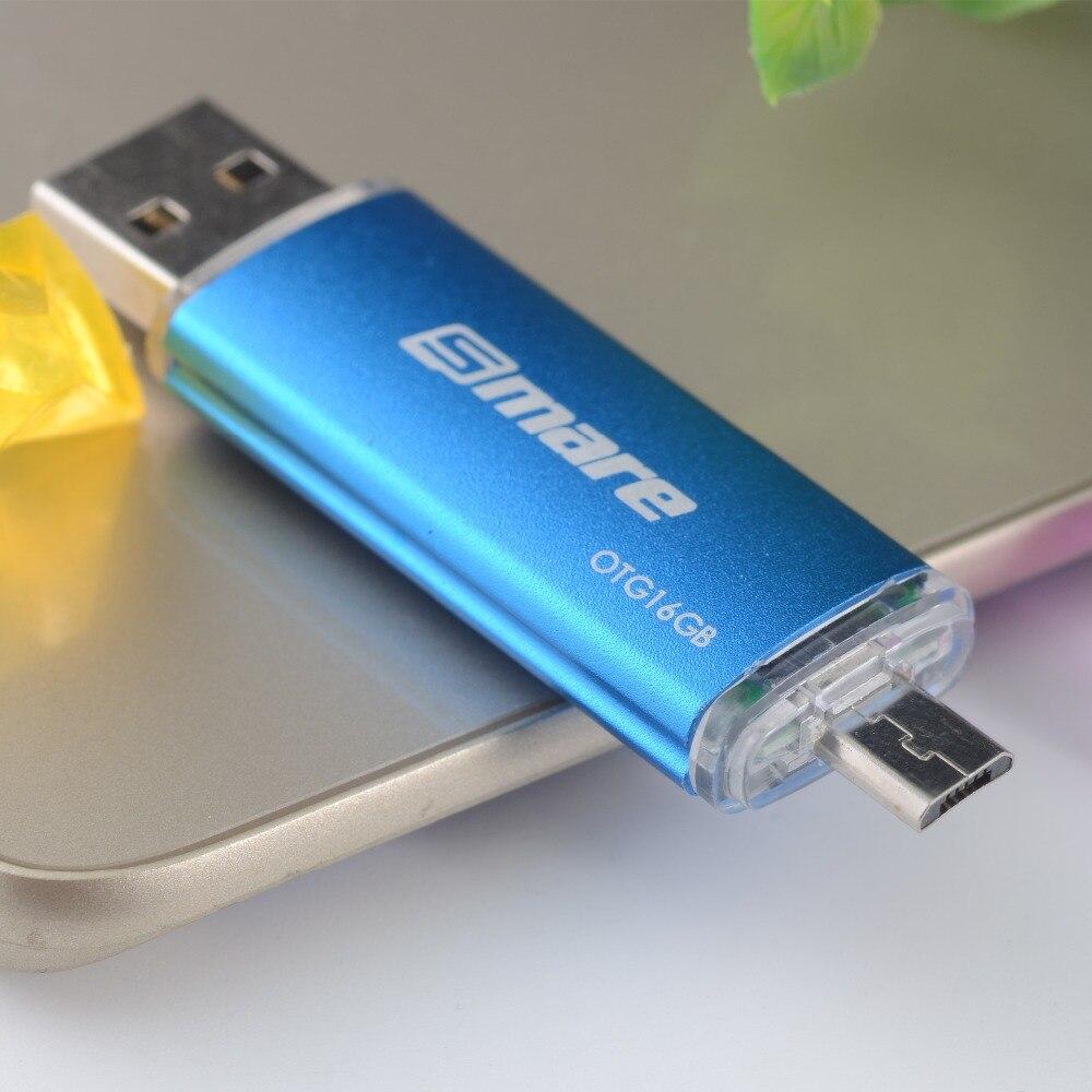 Smare OTG USB Flash Drive 128GB 64GB 32GB 16GB Pen Drive Smartphone Pen Drive USB 2.0 Flash Drive for smart phone