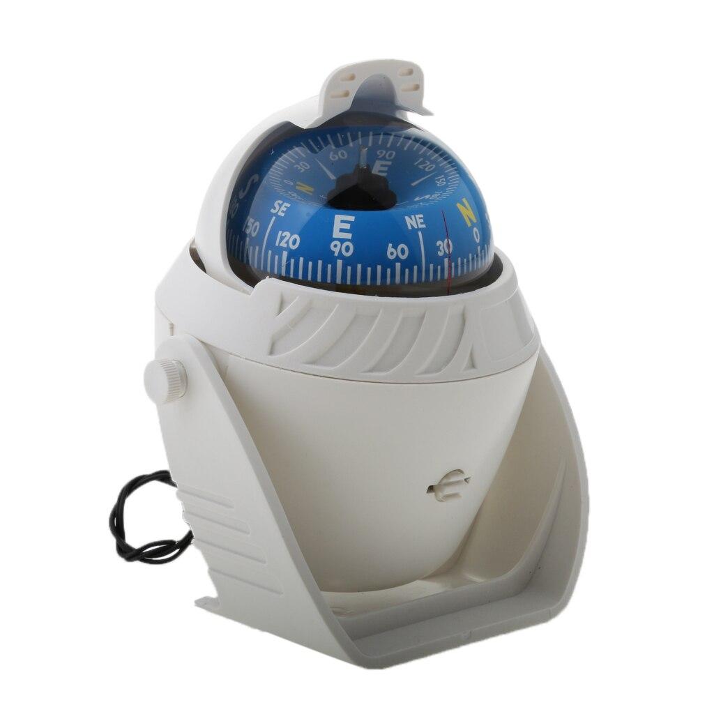 Lumière LED mer Marine bateau Navigation numérique 360°Ball boussole Camping voyage voiture accessoires