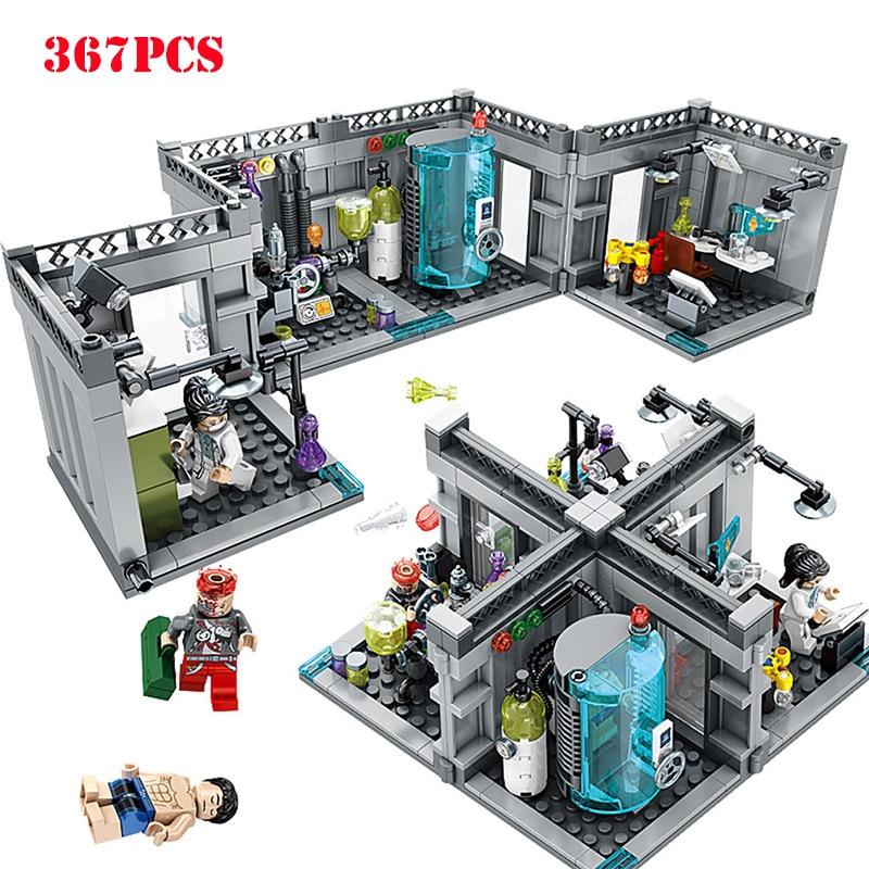 Transformação em Laboratório Bioquímico da Polícia da cidade de Blocos de Construção Compatíveis Legoing Técnica Figuras Iluminar Tijolos Brinquedos Para As Crianças