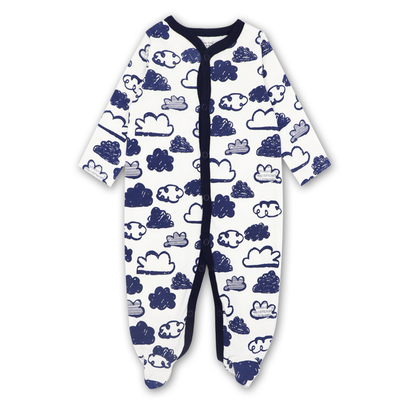 3-6 NEW Baby Boy Super Soft Cotton Knit Long Sleeve Romper One-piece Size NB