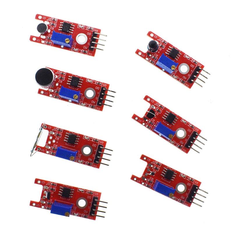 Voor Arduino 45 In 1 Sensoren Modules Starter Kit Beter dan 37in1 Sensor Kit 37 In 1 Sensor Kit Uno r3 MEGA2560 2