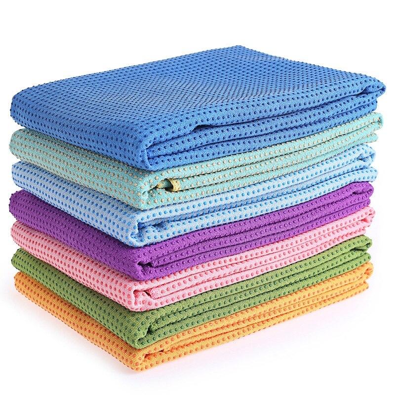 Comfortable Anti-slip Soft Pattern Sweat Absorbent 183*63cm Towel Yoga Mat Cover
