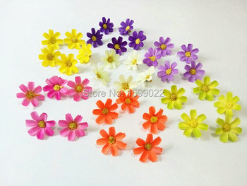 3.5cm Decorative artificial silk daisy flower heads small gerbera daisies diy scrapbooking crafts materials wedding confetti