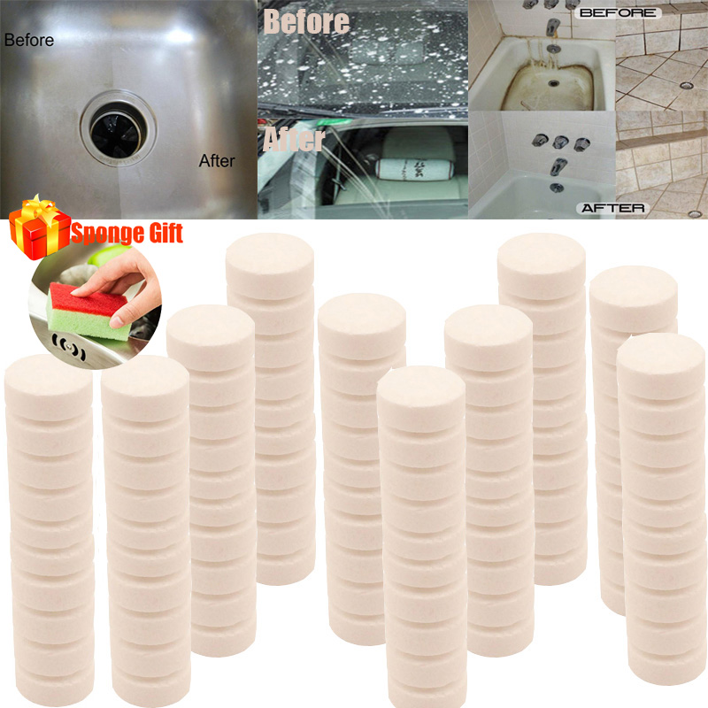 50 500PCS Multifunctional Effervescent Spray Cleaner Set Without Bottle All Purpose Home Cleaning Effervescent Spray Cleaner