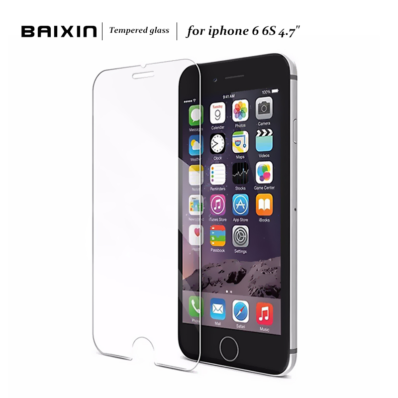 Baixin 2.5D 0.3mm Premium Tempered Glass Screen Protector for iPhone 6 6s Toughened protective film For iPhone 6 s 4.7 inch Glass