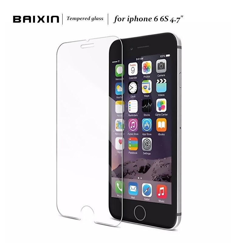 Baixin 2.5d 0,3mm premium-ausgeglichenes glas-schirm-schutz für iphone 6 6 s einscheiben-schutzfolie für iphone 6s 4.7 zoll glas
