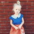 Оформление!! Kikikids Девушки Блузка Дети Рубашка Bebes Лето детские Футболки Топы Мака Дети Малышей Девушки Одежда Детей одежда