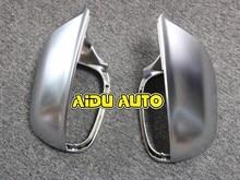 1 pair For Audi Q5 Q7 matt chrome Silver mirror case rearview cover shell