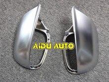 купить 1 pair For Audi Q5 Q7 matt chrome Silver mirror case rearview mirror cover shell дешево