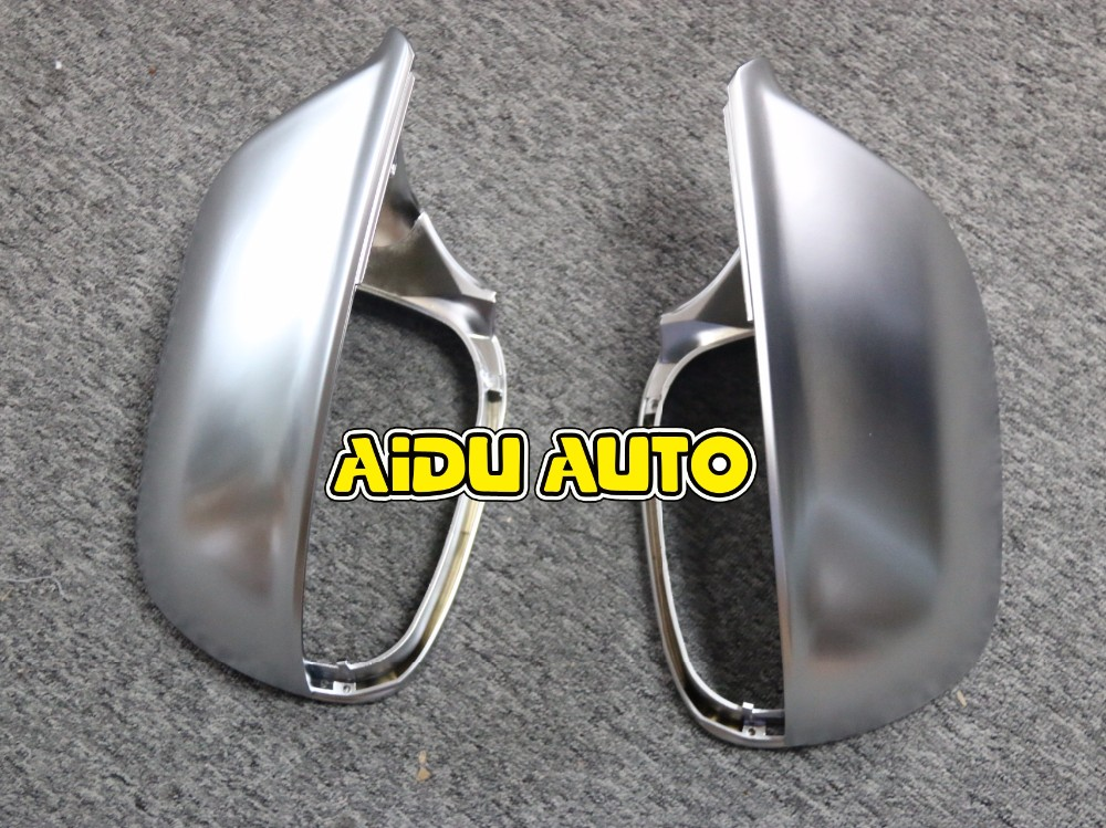 1 pair For Audi Q5 Q7 matt chrome Silver mirror case rearview mirror cover shell