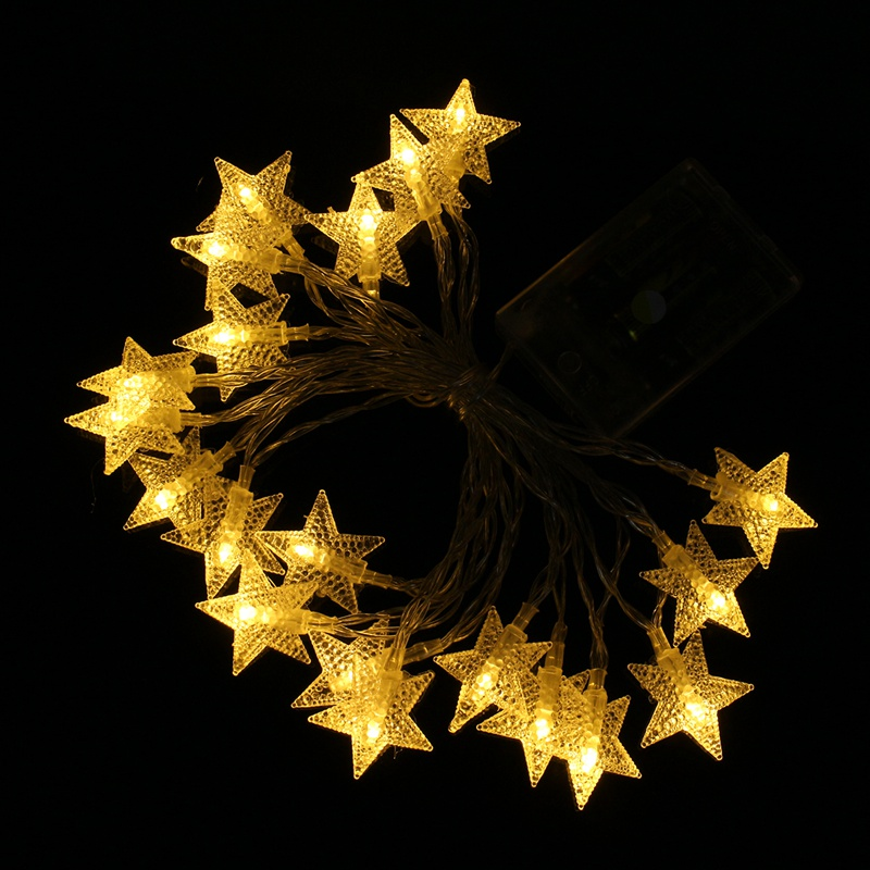 300cm 20 LED Holiday Star Light AA Battery Powered LED String Fairy Lights Christmas Wedding Decoration Party Lighting