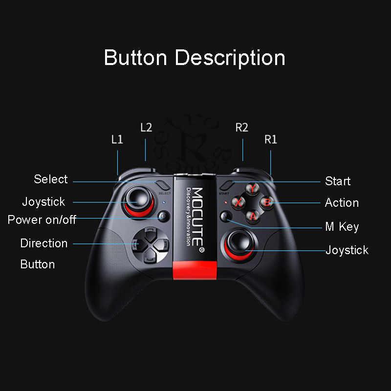 MOCUTE 054 Wireless Gamepad Bluetooth Gmae Controller Joystick Für Android/iSO Handys Mini Gamepad Für Tablet PC VR box gläser