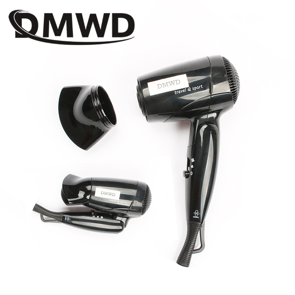 DMWD Dual-voltage Mini Hair Dryer Foldable Electric Travel Cold Wind Hot Air Blow Hairdryer Portable Drying Styling Tools 110V dmwd mini hair dryer foldable electric travel hairdryer household portable styling tool hot warm cold wind air blower 110v 220v