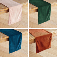 ESSIE HOME 12 Colors Available Matte Velvet High End Table Runner Green Teal Table Cloth Table Runner Placemat недорого