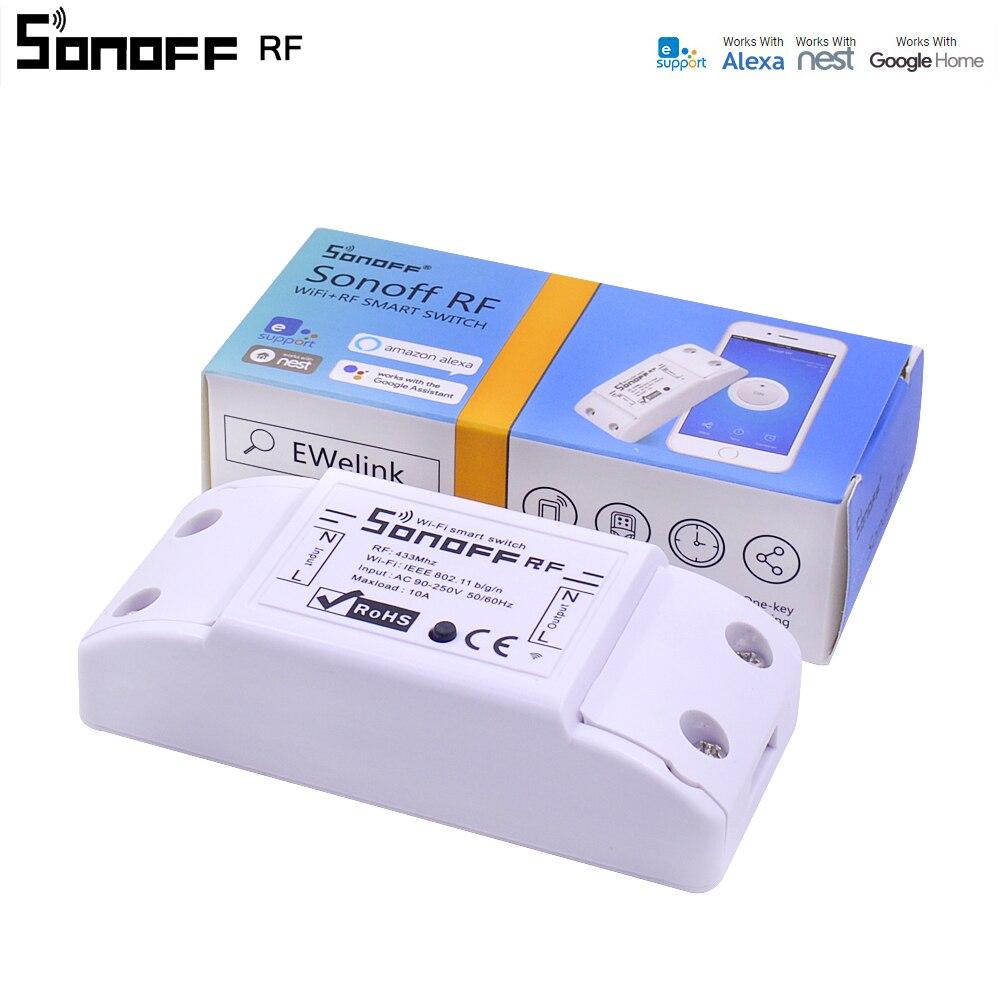 10 PCS Itead Sonoff RF WiFi Smart Switch 433 Mhz RF Empfänger Intelligente Fernbedienung Wireless Control Für Smart Home Wifi licht Schalter-in Heimautomatisierungsmodule aus Verbraucherelektronik bei  Gruppe 1