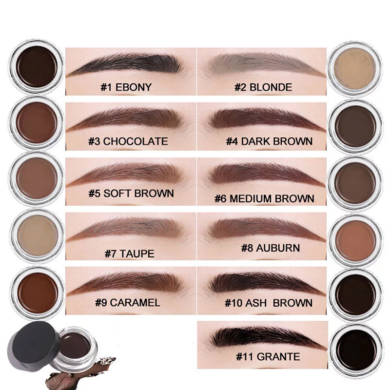 11 Colors Makeup Eyebrow Dye Gel Waterproof Shadow For Eye Brow Long Lasting Tint Shade Make Up Paint Pomade Cosmetic with brush in Eyebrow Enhancers from Beauty Health