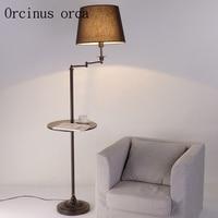Торшер простой Гостиная полка лампа Nordic спальня исследование Творческий Вертикальная торшер