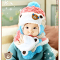 Baby Cute Winter Knit Earflap Hat and Scarf Set Kids Warm Cap + Scarf Children Boys Girls Christmas Fashion Clothes Accessories