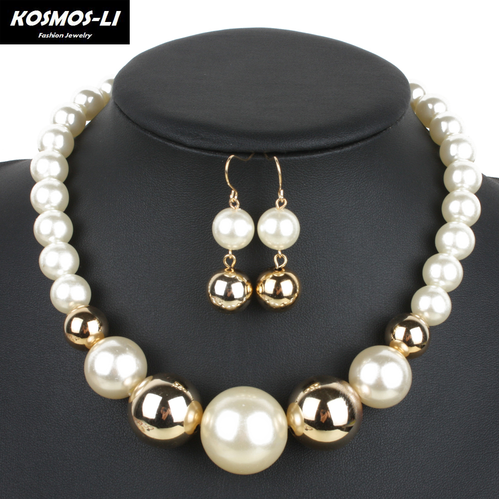 Pearl Chokers New Fashion Imitate Plastic Pearl Be