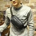 Fanny multifuncional Saco Pacote de Cintura Casuais Saco Terno para o Exterior preto PU bolsa De Couro Moda Unissex Cinto Saco Do Telefone Moeda bolsa
