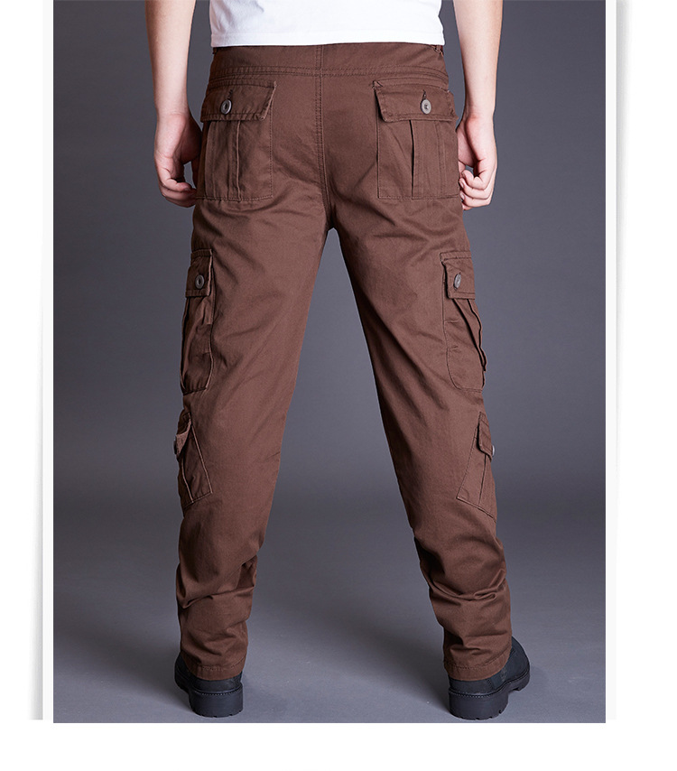 Icpans Winter Tactical Black Cargo Pants Men Loose Fit Military Style Side Pockets Army Black Denim Casual Men Pants Size 40 42 21