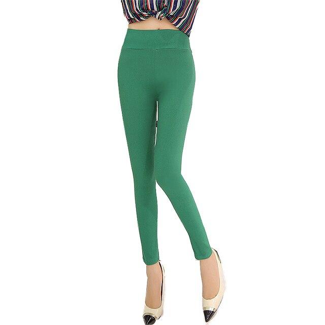58c94bb66f331 Mode taille haute femmes pantalon style coréen plus la taille Maigre crayon  pantalons De Bonbons Colorés