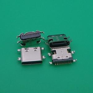 2pcs USB 3.1 Type C Connector 16 Pin Female SMT Tab jack Version Socket For Ulefone Power 5 MTK6763 Octa Core 6.0(China)