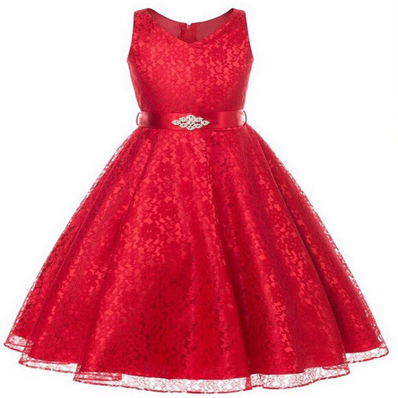 Christmas Teenager Girls Lace Evening Tutu Dess Children Clothing Baby Kids Princess Party Wedding Vestidos Clothes For 3-12T ...