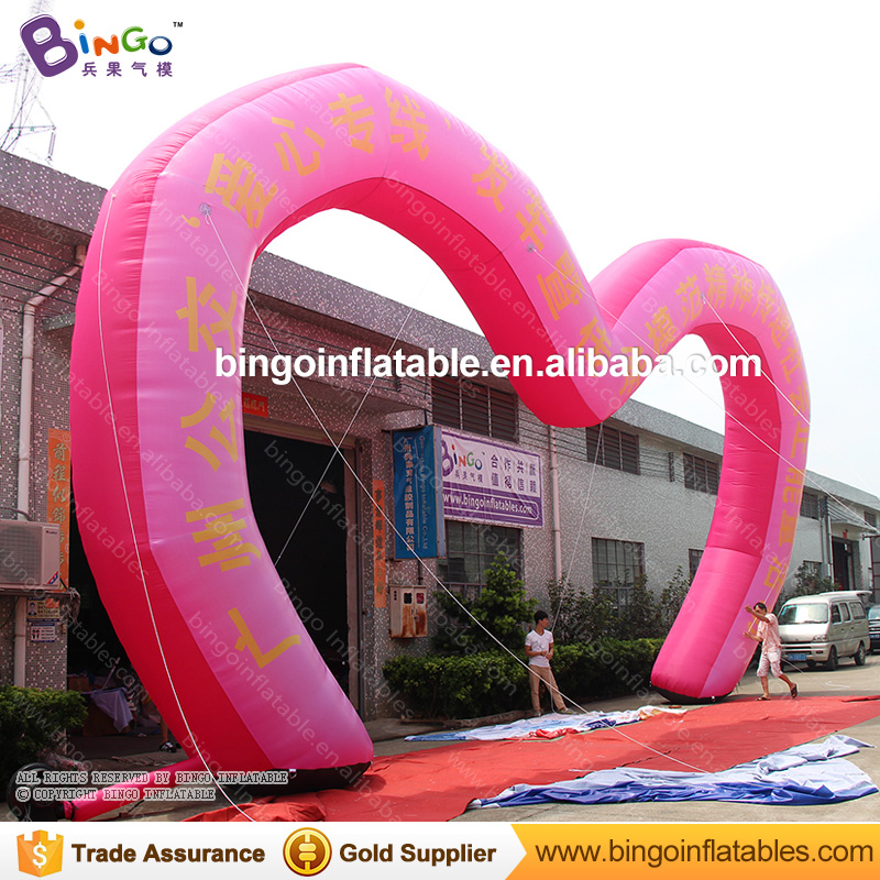 39*24ft Romantic LOVE heart shaped inflatable wedding outdoor decorative arch 39*24ft Romantic LOVE heart shaped inflatable wedding outdoor decorative arch