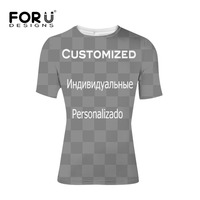 FORUDESIGNS Customized T Shirt Clothing Summer T Shirts Mens Crossfit Bodybuilding Elastic Tees S M L