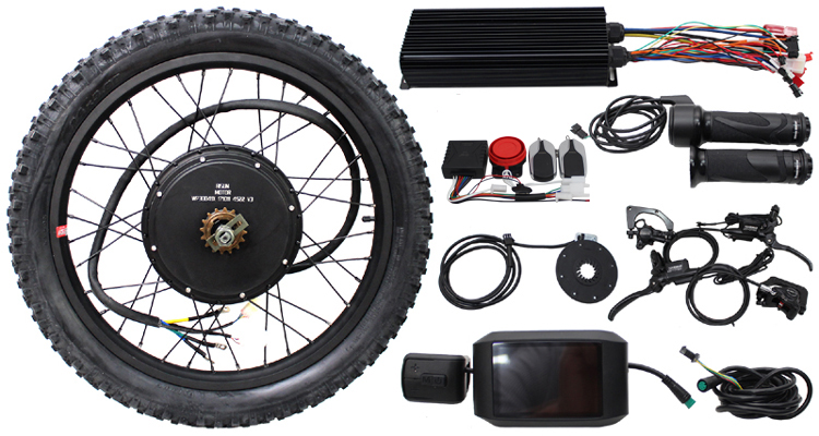 RisunMotor Exclusive 36V-72V 2000W Conversion Kit EBike Brushless 80A Controller 155mm Rear Motor+Single Speed Electric Bicycle risunmotor ebike 36v 48v 750w 20inch 24 26 28 29e 700c ebike brushless gearless rear hub motorized wheel for electric bicycle