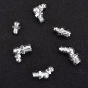 """Image 5 - 120pcs SAE Standaard 1/4 """" 28 1/8"""" 28 90 Graden en 45 Graden en Rechte Type hydraulische Grease Zerk Fitting"""