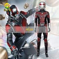 Высокое качество человек муравей Костюмы для косплея Капитан Америка гражданская война Antman костюм для взрослых Для мужчин Хэллоуин Карнав