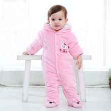 Newborn Baby Rompers Autumn Winter Thicken One-Piece Jumpsuits Clothing Cute Boys Girls Soft Cotton Warm Romper 3-12Months autumn baby fashion cute warm rompers cute rabbit ears design baby bunny hooded romper newborn boys and girls one pieces suits