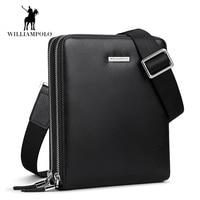 Luxury Deer Skin Men bag Genuine leather Men Double zipper men messenger bag male business crossbody shoulder bags bolsas male