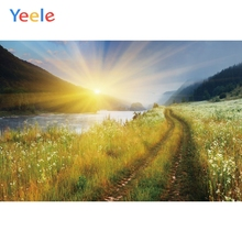 Yeele Landscape Mount Photocall Sunrise Painting Photography Backdrops Personalized Photographic Backgrounds For Photo Studio